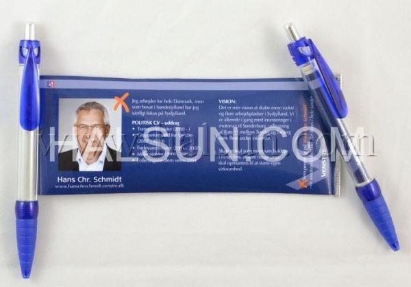 custom Scroll Ballpoint Banner Pens